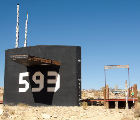 The Ghost Town in Terlingua, Texas, is the home of the Big