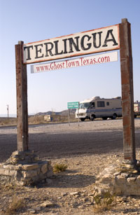 Sign for Terlingua.